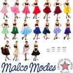 Malco Modes sur knielanger mousseline Jupon Jupon en costume 40Look style (835) 50. Idéal pour Rock, robe, jupe, ou assiette pour Rockabilly, Swing, Twist, ROCKN Roll, ou gothique. – Blanc – Taille Unique