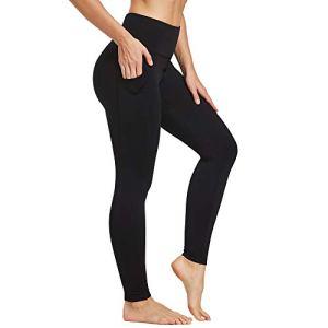 Ogeenier Yoga Pantalons avec Poches Femme Leggings Thermique de Sport Minceur Chaud Collants