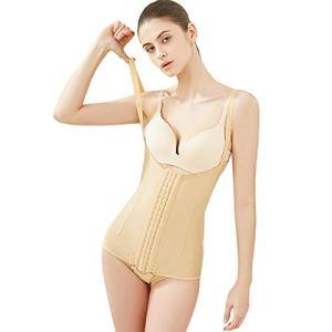 XL- Femmes Latex Waist Trainer Body Slim Shapewear Buste Ouvert Corset Dames Bodys Corset Cincher Underbust Body Shaper (Couleur : Skin tone, taille : XL)