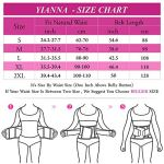 YIANNA Waist Trimmer AB Belt for Men&Women Waist Cincher Slimming Belt Body Shaper with Back Support Gym Woukout,UK-YA8010-Red-(S/M)