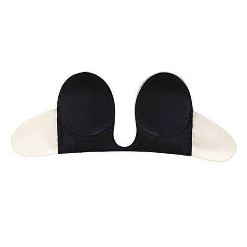 YuanSu Souillé Invisible Soutien-Gorge Noir Bretelle Soutien-Gorge de Silicone de Silicone Collant Soutien-Gorge Invisible (Cup Size : B)