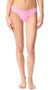 Hanky Panky Women's Low Rise Thong, Glo Pink, One Size