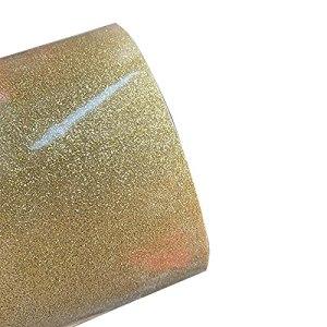 30cmx100cm Belle Couleur Tableau de Chaleur Vinyle Film Vinyle Film de Chaleur Presse à Chaleur Découpeuse Fer à Repasser sur Le Film HTV (Color : Light Gold)