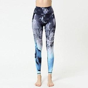 bayrick Pantalon de Yoga,Pantalon de Yoga High Taille Taille serrée Harpes Femelle Hors Sports Fitness Vêtements-F_XL