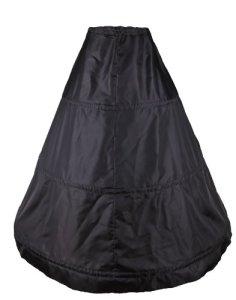 Flora® 3 Hoop mariée Jupon/jupon de bal, taille S-XL – Noir – Taille Unique