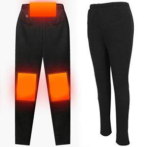 Pantalon chauffant, Pantalon chauffant thermique électrique USB, Pantalon thermique chauffant électrique USB lavable, Pantalon chauffant pour automne-hiver, Bas résistant au froid pour (XL)