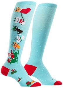 Sock It To Me Jingle Cats Knee High Socks Multi