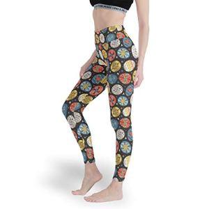 superyu Pantalon de yoga extensible avec imprimé œufs de Pâques – Taille haute – Blanc – Taille XXXL