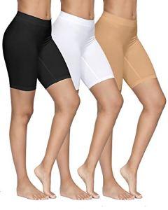 YADIFEN Femme Slip Panties Culotte Taille Haute sous-vêtements Short de Yoga Longue Legging Cyclisme Doux Anti-frottement Boyshort Culotte 3 Paquet Taille M