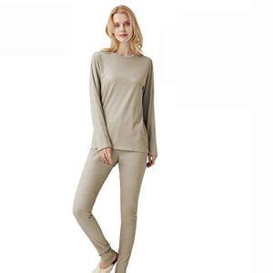 ZMMHW Ensemble de sous-vêtements de protection anti-rayonnement pour femme en fibre argentée Taille XXXL
