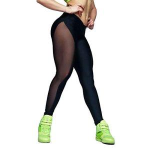 CPNG Pantalon de yoga pour femme – Nettogarn – Coutures élastiques – Pantalon de yoga pour la course à pied – – Taille L
