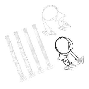 Generic Clair Soutien- Gorge Bretelles Non- Slip Réglable Soutien- Gorge Invisible Transparent Épaule Soutien- Gorge Bretelles Remplacement Soutien- Gorge Sangle Accessoires 4 Paires