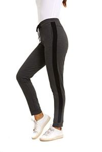 GOLDPKF Survêtement Bottoms Jogging Pantalon de jogging pour femme grande taille avec poches – Gris – W46