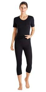 Hanro Hanna Leggings Bas Thermique, Noir (Black 070019), 50 (Taille Fabricant: Large) Femme