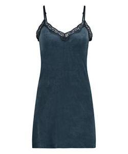 HUNKEMÖLLER Robe à Bretelles pour Femmes Hunkemoller en Dentelle festonnée Bleu L