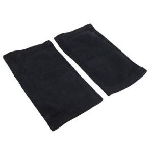 Joints de genou manches épaisses hiver cache-jambe chaud thermique gris noir ML – noir L