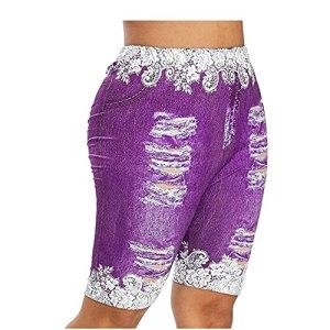 Legging De Sport Imprimé Papillon en Denim pour Femme Pantalon De Yoga pour Le Levage des Hanches
