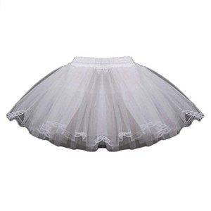 LIUWEI jupon Petticoat 3 couches de jupons à cercle de jupons mannequins à fleurs pour mariage (Color : White)