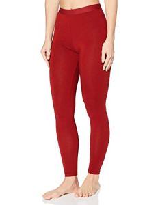 Marque Amazon – Iris & Lilly Bas Thermique Femme, rouge (rouge), M, Label: M