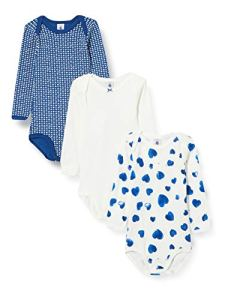 Petit Bateau 5627900 Chemise Femme, Bleu/Blanc + Blanc/Bleu + Blanc, 3M