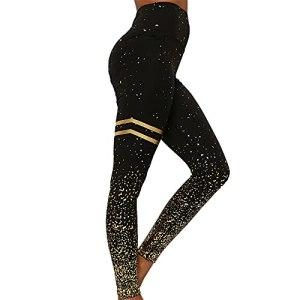 PRJN Leggings Taille Haute Femmes Leggings Plus Size Workout Gym Yoga Pantalons Extensibles Pantalons de Yoga Tummy Control Workout Running Leggings Femmes Yoga Pants Tummy Control Workout Leggings