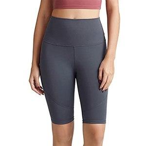 PRJN Shorts de Sport pour Femmes Shorts de Yoga Pantalons de Course Leggings Taille Haute Leggings de Yoga de contrôle du Ventre Pantalons de Fitness Shorts de Yoga Pantalons de Course Leggings