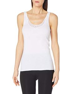 Schiesser – Haut thermique Femme – Trägertop – Blanc (weiss 100) – FR : 44 (Taille fabricant : 42)