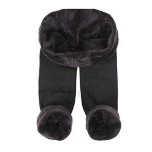 Trifolium Legging thermique pour femme avec doublure en polaire épaisse Noir Taille 38-50 – Noir – 42