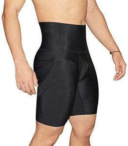 WXFASHION Hommes Butther Lifter, Body Shaper rembourré Améliorer Les sous-vêtements Shapewear Shorts de la Jambe Tummy Control Fitness Pantalon (Color : 4XL, Size : Noir)