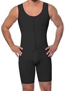 WXFASHION sous-vêtements pour Hommes pour Hommes, Culotte à la Taille Haute Brief Shapewear Tummow Control Body (Color : Noir, Size : XL)