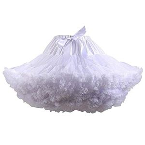 XKMY Jupon de mariage pour femme – Blanc – Bleu – Noir – Danse – Tutu – Couleur : noir