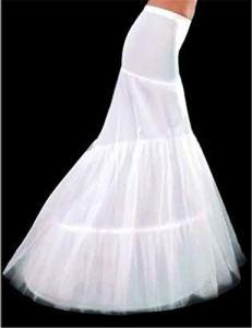 XKMY Jupon de sirène 2021 en stock 2 cerceaux pour robe de mariée sirène, slip et bon marché (couleur : Blanc)