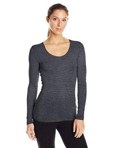 32Degrees Heat Scoop Neck Top thermique pour femme – Noir – Taille XL