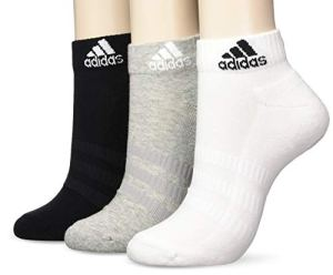adidas CUSH Ank 3PP Chaussettes Medium Grey Heather/White/Black FR: S (Taille Fabricant: S)