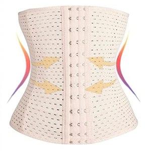 ALAON Corsetts Shapewear Ceinture amincissante pour amincir la taille Couleur : beige, Taille : 5XL