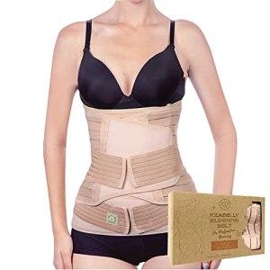 Bande de soutien du ventre 3 en 1 pour le post-partum – Ceinture ventrale pour postnatale – Maternité – Gaines pour femmes body shaper – Shapewear de taille de bandit de ventre (Classic Ivory)