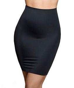 Bye Bra Jupe Invisible, Jupon Sculptant Taille Haute, sous-Jupe, soutenant légèrement Le Ventre, sous-vêtement Sculptant sans Coutures, sous-vêtement Affinant, 3 Couleurs, S-XXL