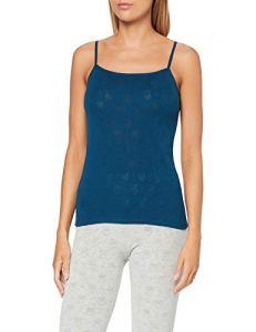 Damart Caraco Haut thermique, Bleu (Pétrole 56675-8210), 50 (Taille fabricant:XL) Femme
