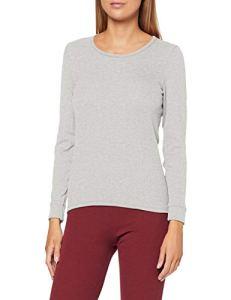 Damart Tee Shirt Manches Longues. Haut Thermique, Gris (Gris Chiné 56680-11011-), 34 (Taille Fabricant:XS) Femme