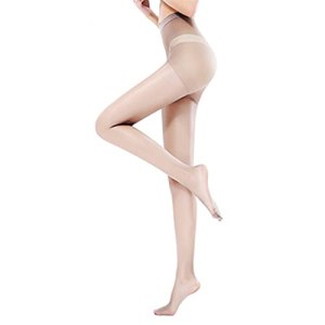 DEKA.O84 3 paires de collants | Bas Femmes | collants transparents | collants transparents pour femmes | Haut de contrôle pour femmes, bout renforcé, reflets en soie, collants (De couleur chair, XL)