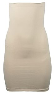 Generisch Lot de 2 jupes moulantes pour femme – Sans couture – Beige – XL