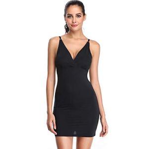 Joyshaper Sous-vêtement sans coutures avec bretelles pour femme – Noir – Medium