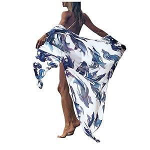 L9WEI Boho Cardigan pour femme en mousseline de soie Robe de plage Bikini Cover Up Robe d'été Casual Poncho de plage d'été Robe d'été Robe d'été décontractée
