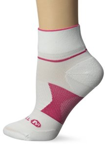 Merrell Allout Nanoglide Mini chaussettes pour femme L Blanc/grenat.