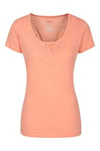 Mountain Warehouse T-Shirt Agra léger et Respirant pour Femme – Séchage Rapide, évacuation de la Transpiration – pour Sports d'extérieur et randonnée Corail 54