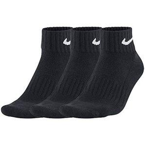 NIKE One Quarter Socks 3ppk Value, Mixte, One Quarter Socks 3PPK Value – Noir (Black/White 001) – 34-38 EU
