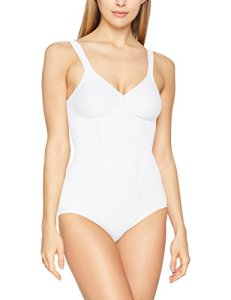Triumph Modern Soft + Cotton Bs, Combinaison Gainante Sans armature Femme, Blanc (White 03), 90A (Taille fabricant: 75A)