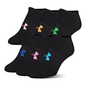 Under Armour UA Big Logo No-Show Lot de 6 paires de chaussettes MD Noir
