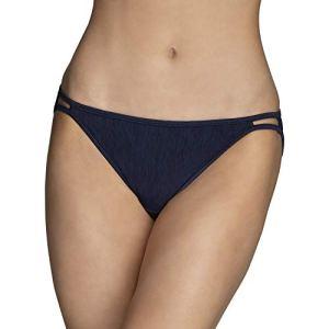 Vanity Fair Women's Illumination Bikini Panty 18108, NH Ghost Navy, 8