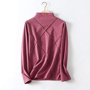 Xin Hai Yuan Sous-vêtements thermiques à col montant pour femme Violet Taille M